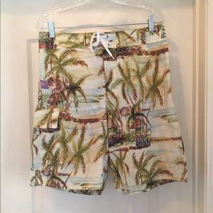 Kahala Hawaiian 50's island print board shorts